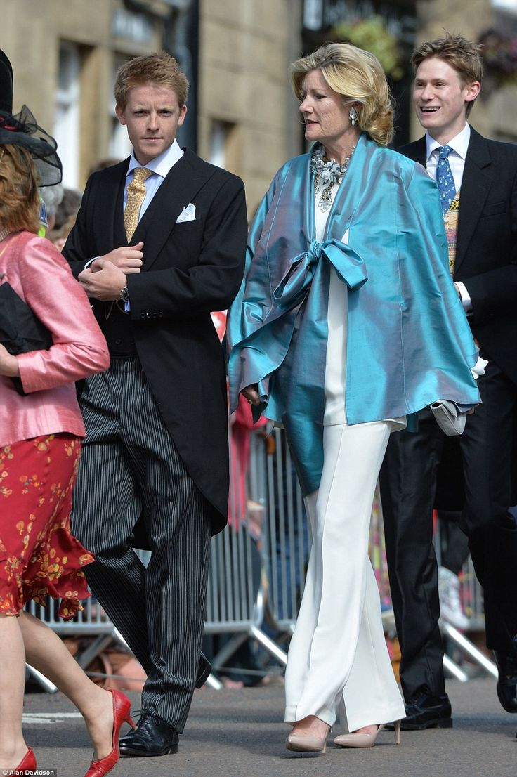 The Duke's death means that his son Hugh Richard Louis Grosvenor (left, pictured with his mother, Natalia at a wedding in June 2013) will now inherit the entire estate at the age of just 25