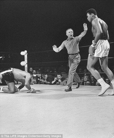Ali knocks down Floyd Patterson in the 12th round to take his career record to 22-0