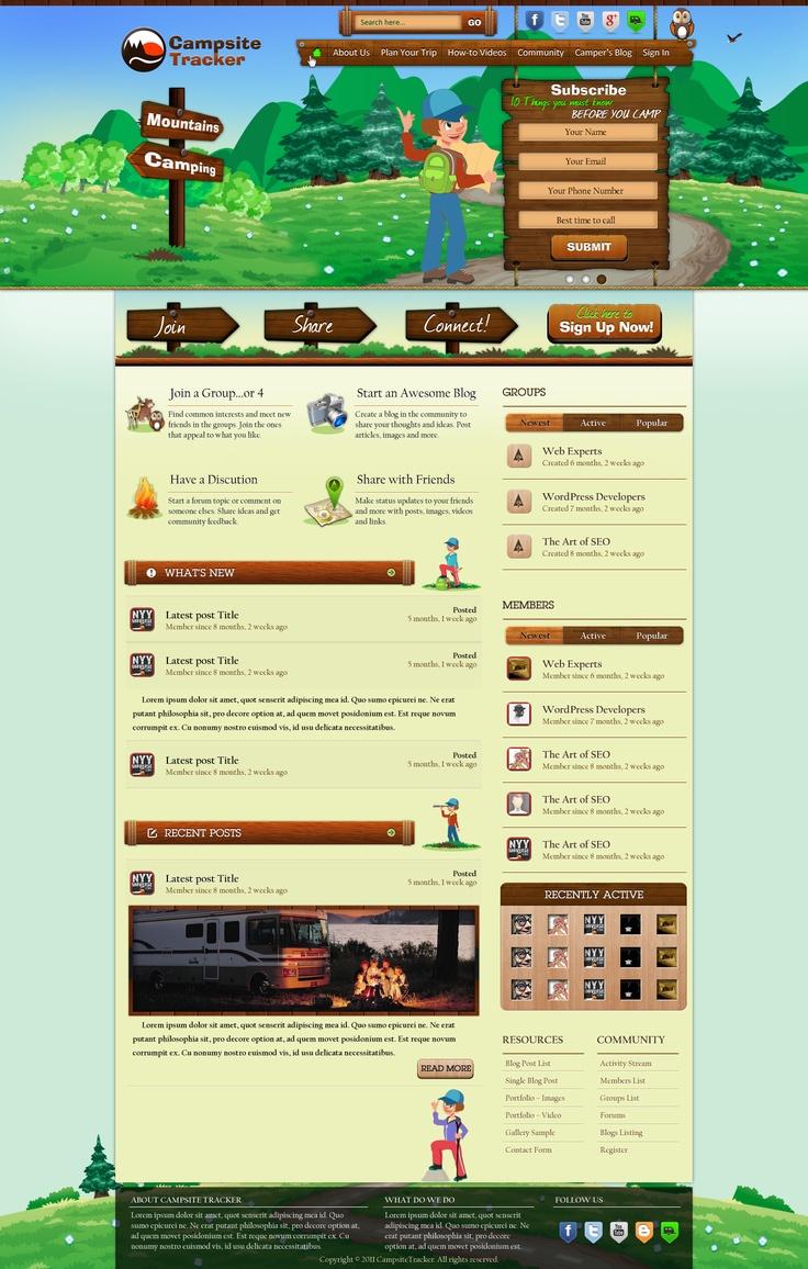 Webdesign for CampingTracker - Slide 3