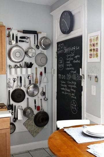 7 genius small kitchen ideas - hanging pots and pans