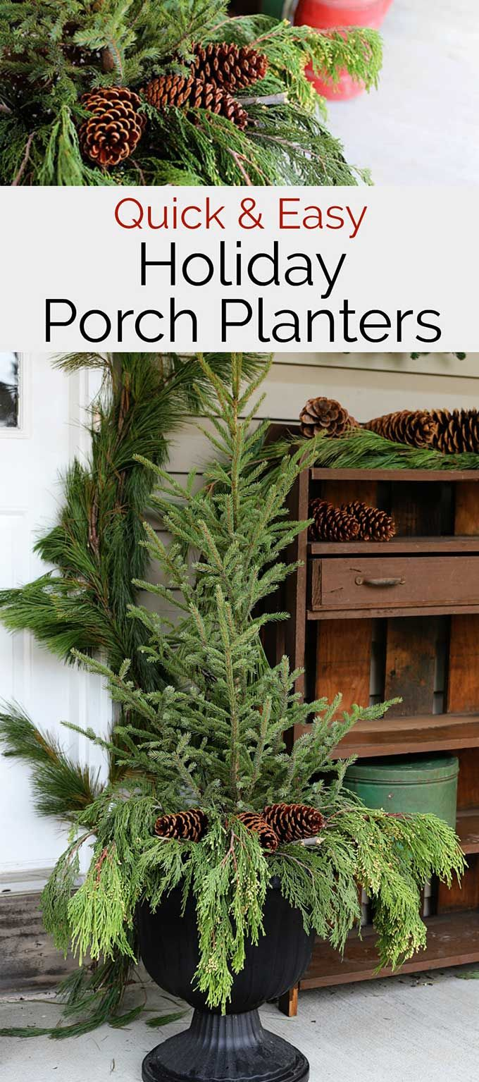 Easy Holiday Front Porch Planters Christmas Decor Food More