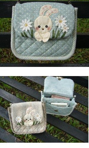 (材料包/DIY Kit) - 片山小兔斜背包/ Little Rabbit Sling Bag