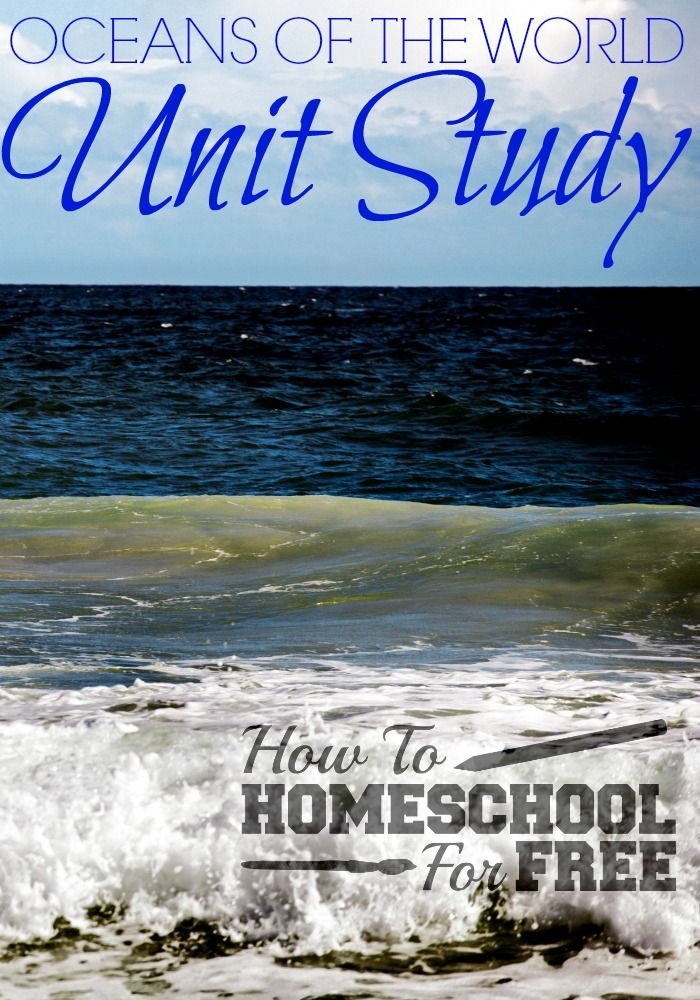 Teach your children all about the oceans of the world with this FREE Oceans of the World unit Study!