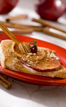 Postre de manzana y queso.