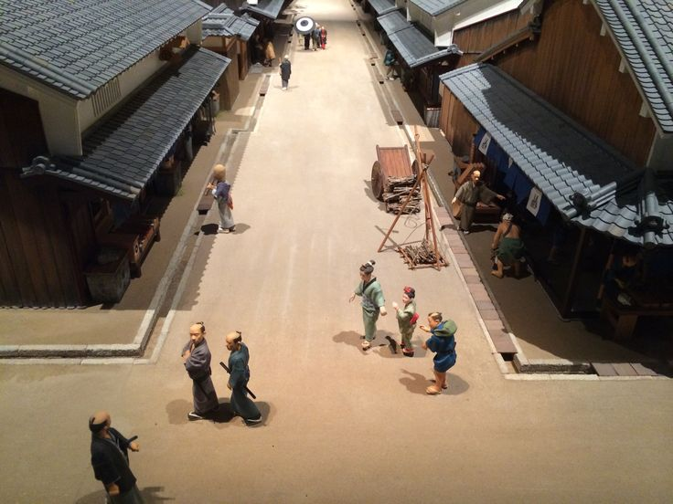 昔の街並み(ジオラマ)