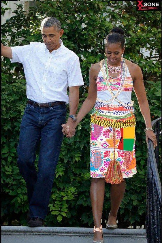 Michelle Obama en tenue « Diola », la photo qui fait le buzz