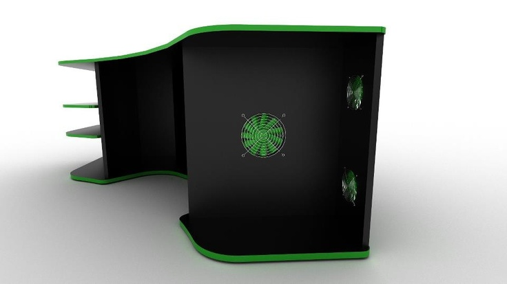 1000 images about gaming desk on pinterest trips brothers room and tvs. Black Bedroom Furniture Sets. Home Design Ideas