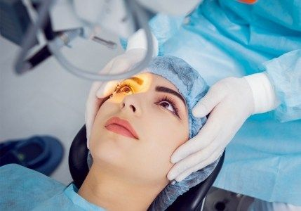 Surgical robot ready for cataract surgery