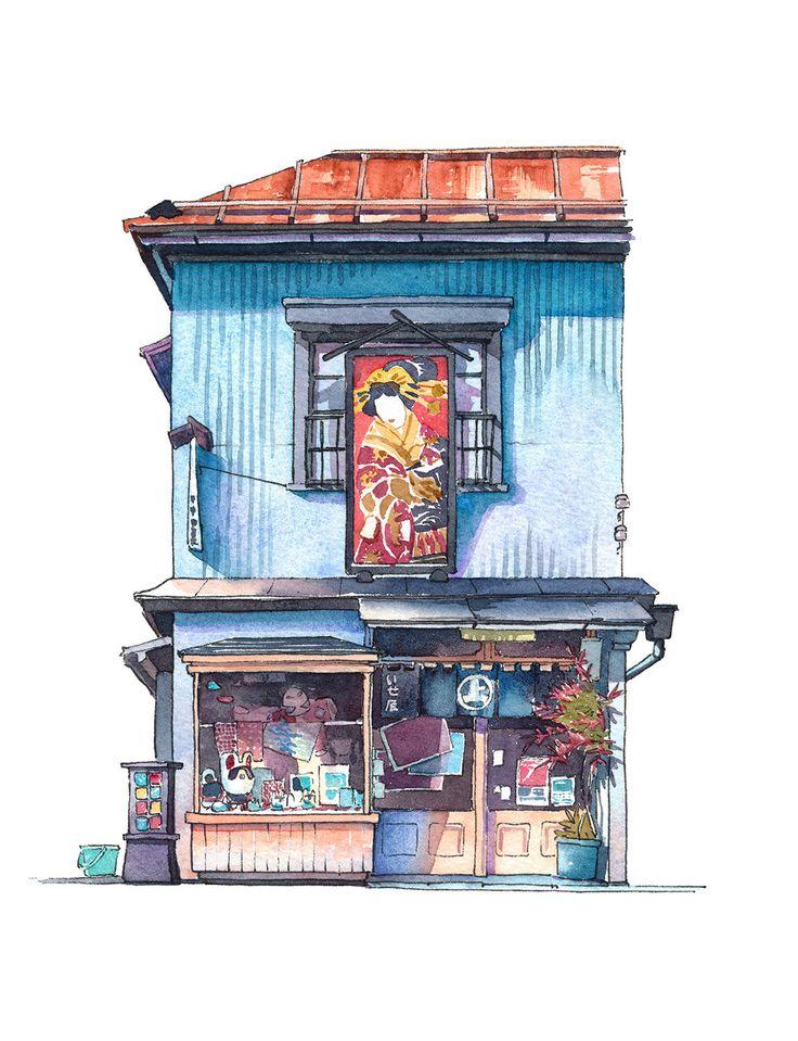 Storefront illustrations by Tokyo-based artist Mateusz Urbanowicz (aka Mattō).