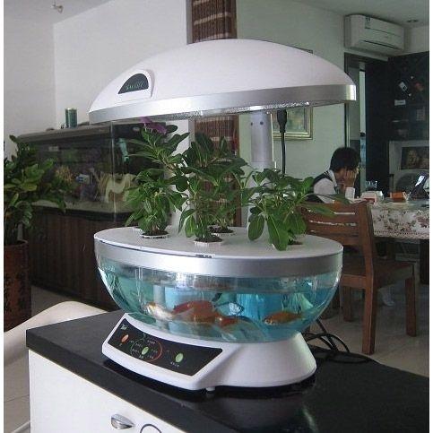 hydroponic gardening aquaponics indoor garden aquaculture hydroponic system w grow light. Black Bedroom Furniture Sets. Home Design Ideas