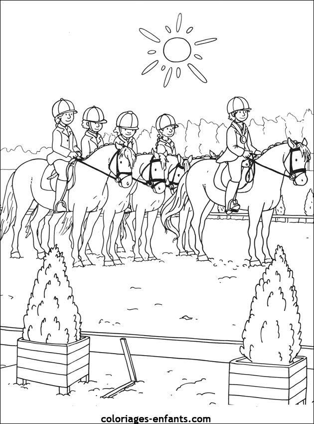 Les Coloriages De Equitation De Coloriages Enfants Com Coloriage Poney Coloriage Coloriage Enfant