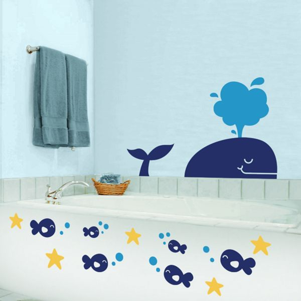 Whale And Pals Wall Decals Perfect For Kids Bathroom