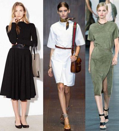 модные деловые платья 2015