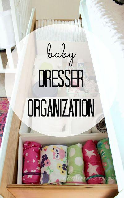 baby dresser organization for the nursery