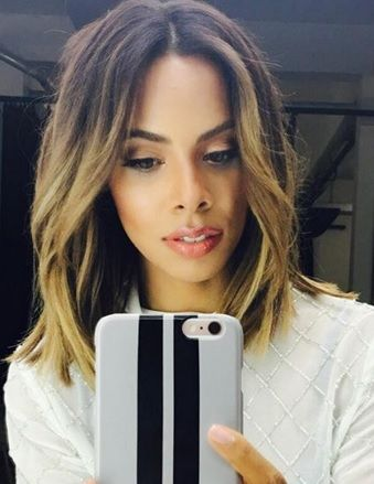 Rochelle Humes ombre bob bronde hair