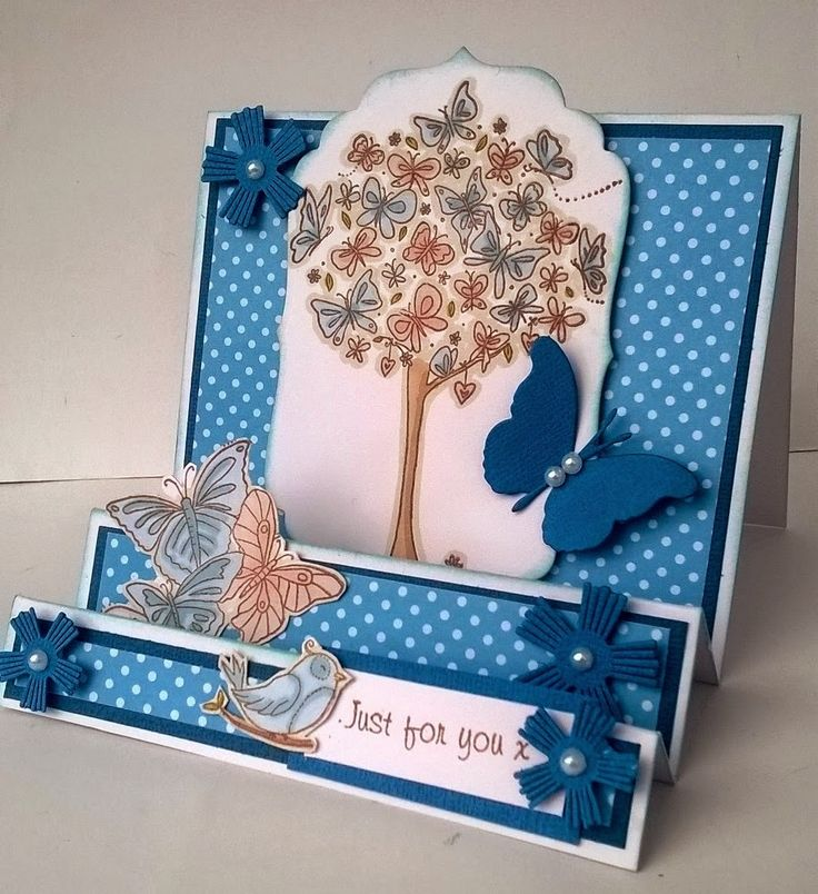 Little Claire's Designs: Little Claire Likes - Butterfly Tree Stepper Card