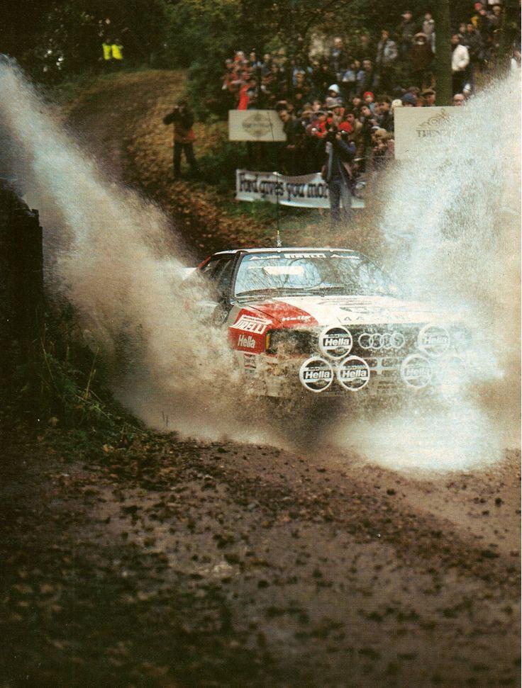 Sajūta - dubļi, ātrums, brutalitāte. Mikkola Audi quattro - British Open.