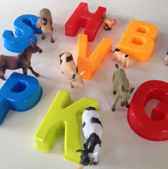 Zoek de beginletter van de dieren. Letters en dieren - http://credu.nl/