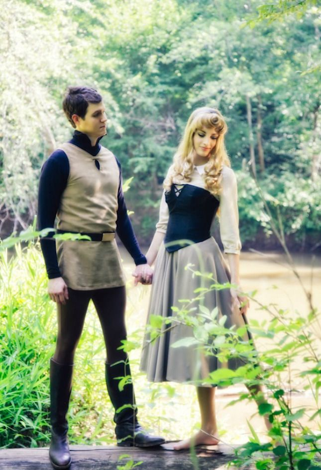 How dreamy are these Prince Phillip + Briar Rose from Sleeping Beauty costumes?