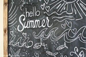 Hello Summer! Summer Chalkboard - The Lilypad Cottage