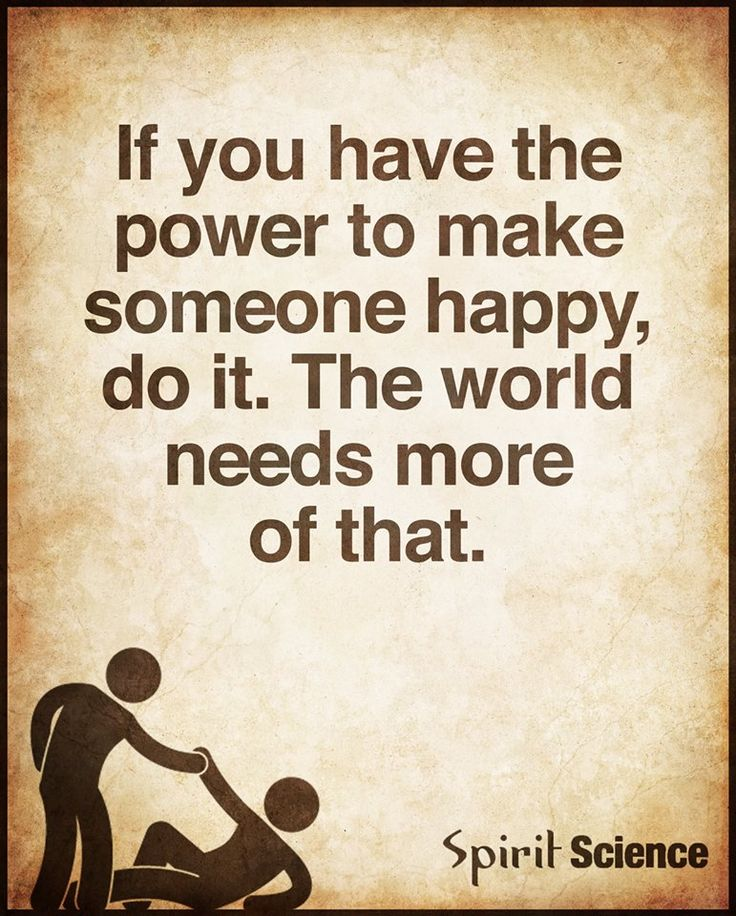 The #power to make someone #happy