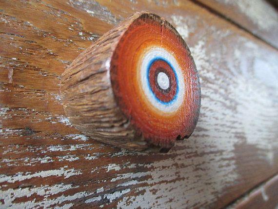 Bouton de meuble en tire de barreaux d'échelle Grange recyclée - peinte à la main - lot de 2 (2KP1) sur Etsy, $24.36 CAD