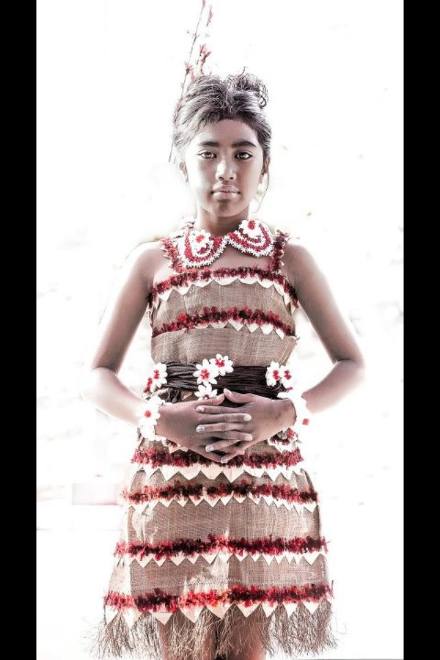 Traditional attire for a Tongan Princess! A Polynesian Beauty at her best!!