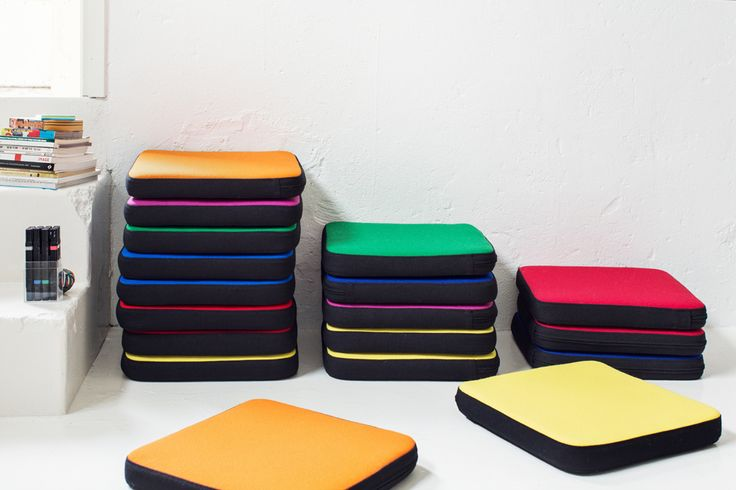 Puffet by Iiro Viljanen . Puffet is a fresh and colourful set of small seat cushions. Puffet is perfect for story time at day-care centres and schools.