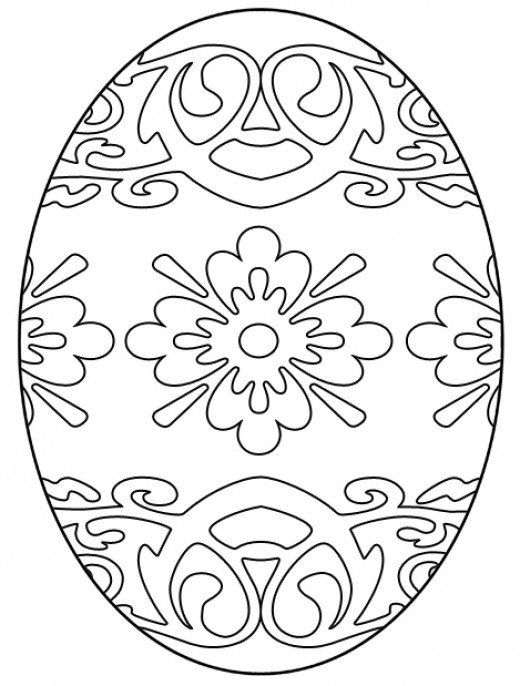 Easter coloring sheet.