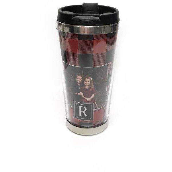 Coffee Tumbler Photo Gift Travel Mug Personalized Coffee Tumbler... ($16) ❤ liked on Polyvore featuring home, kitchen & dining, drinkware, drink & barware, grey, home & living, tumblers & water glasses, personalize mugs, travel coffee mugs and grey coffee mugs