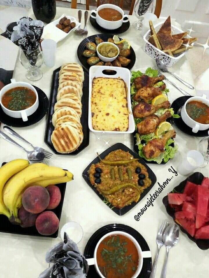 Algerian Dishes أطباق جزائرية فطور جزائري رمضان Food Cooking Dinner Plates