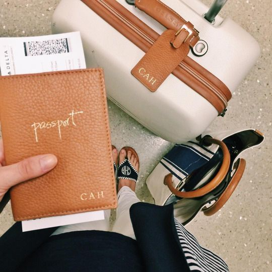 Coordinating your passport cover and luggage is a win! Looking chic and staying organized wherever you go!