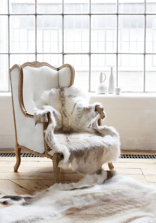 cute chair!! (wish it is not real furr)