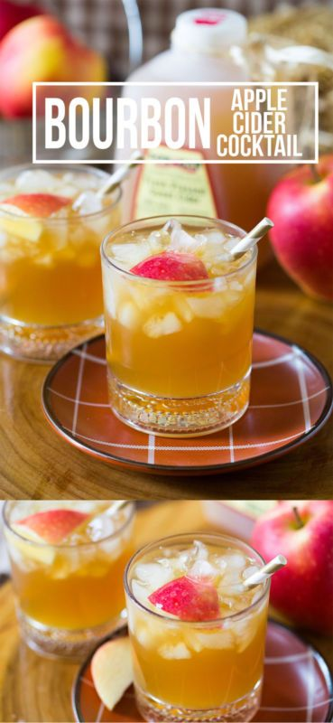 Bourbon Apple Cider Cocktail | Perfect Fall Drink!