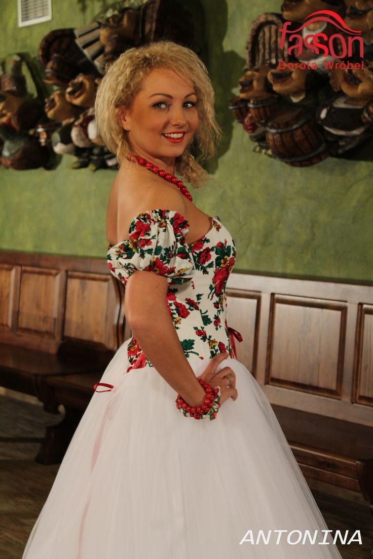 regional wedding dress, folk. regionalne suknie ślubne, podhalanka
