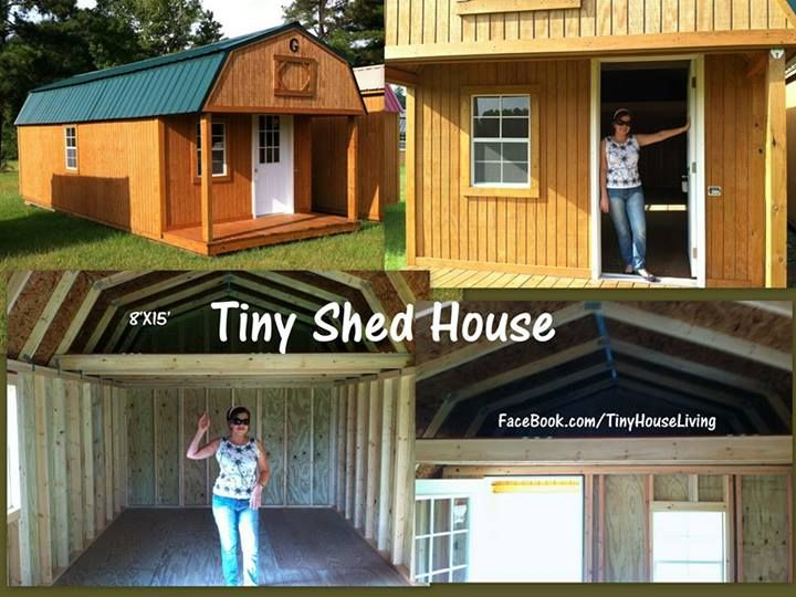 Tiny Shed House great way to get started when youre in a tight