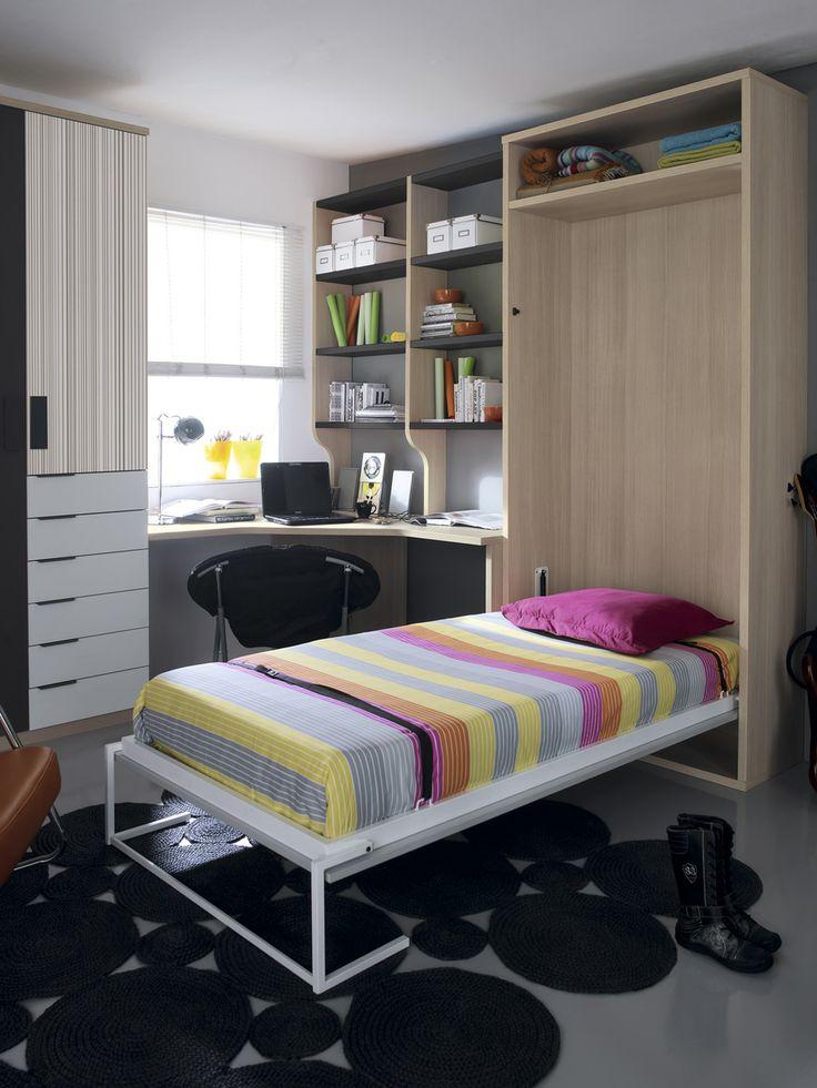 Mejores 57 im genes de camas abatibles en pinterest cama - Cama abatible vertical ikea ...