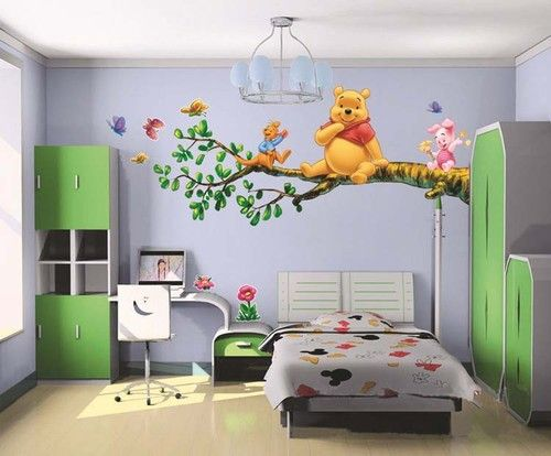 Winnie The Pooh Wall Sticker Decal Nursery Wall Dacals Kids Room Decor  60X90CM
