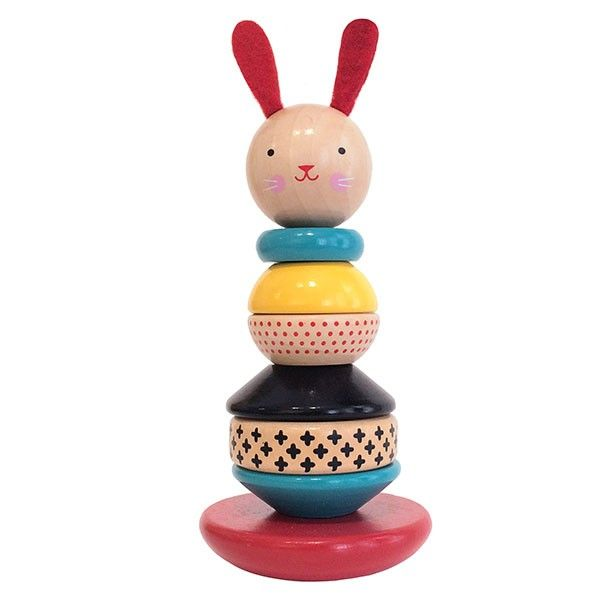 The Elves are so excited this is finally back in stock! The super popular Petit Collage Wooden Stacking Toy Bunny Rabbit features a gorgeous design and is sure to delight your little one. The polished wooden rings can be arranged in any order, and the rounded base offers a gentle wobbly movement. It also looks beautiful on display! #entropytoys #easter2016