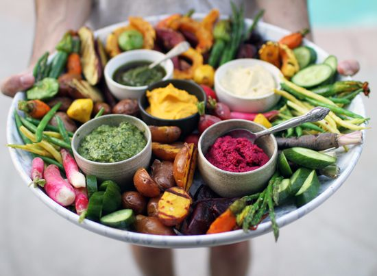 how to create a veggie plateau for the holidays