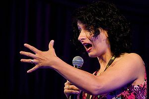 "Shaparak ""Shappi"" Khorsandi (Persian: شاپرک خرسندی born 8 June 1973[1]) is an Iranian-born comedian based in the United Kingdom."