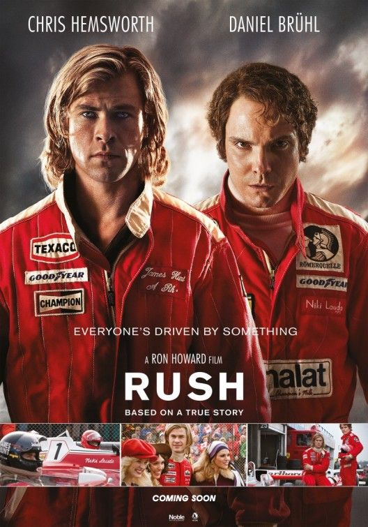 Rush, really great movie about the battles between James Hunt and Niki Lauda.