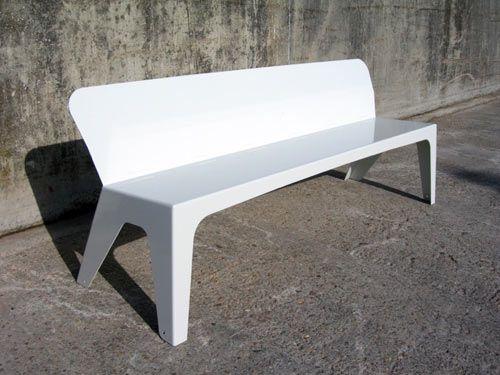 MaaK ONO outdoor sheet metal sofa (4mm steel or 6mm aluminum)