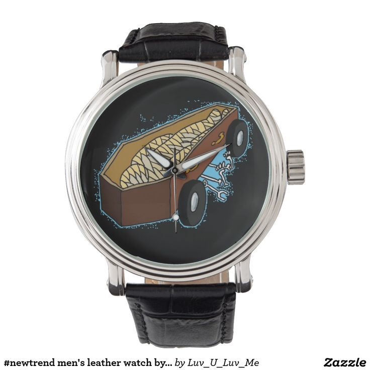 #newtrend men's leather watch by DAL