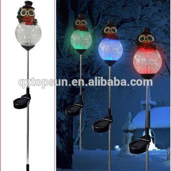Polyresin Owl On Glass Ball Solar Stake Christmas Decoraiton Solar Garden  Light   Buy Christmas Decoration,Solar Garden Light,Solar Stake Light  Product On ...