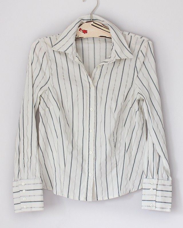Koszula Z Kr Rekawem Delikatny Pasek Pl R 110 Shirts Mens Tops Shirt Dress