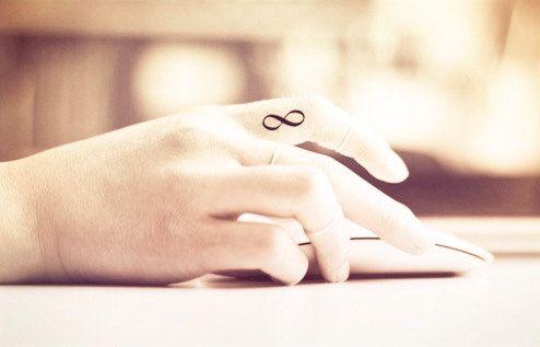 4pcs Tiny Infinity Loop tattoo finger  InknArt by InknArt on Etsy