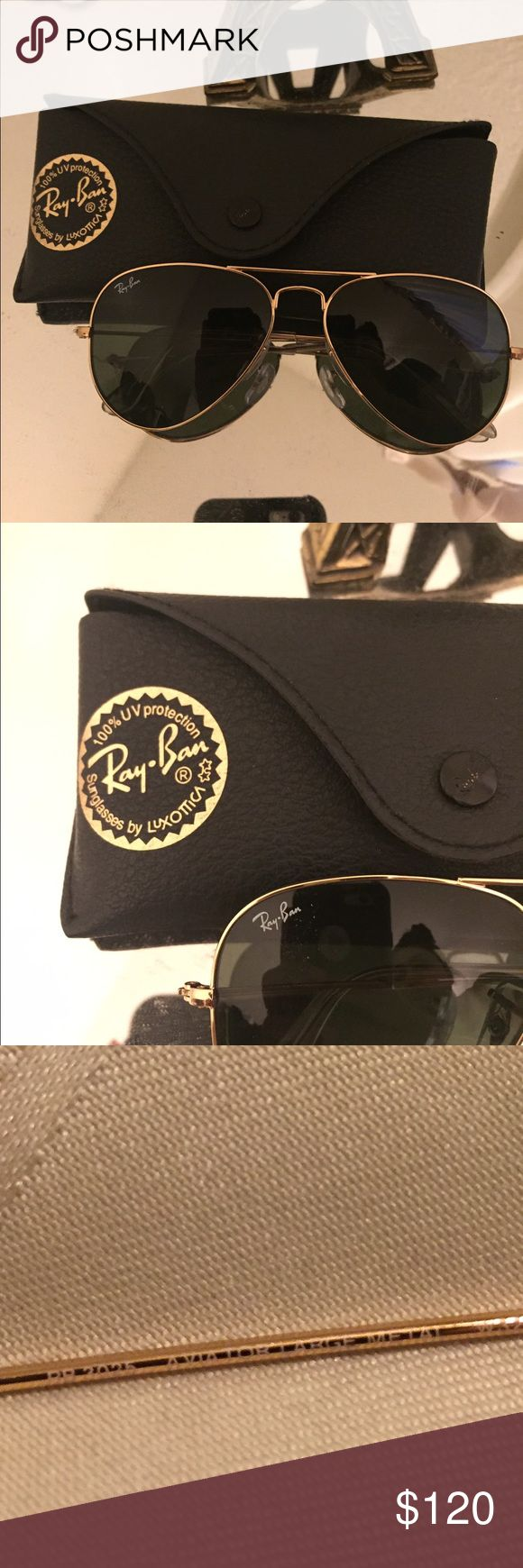 do ray ban sunglasses come with a case  ray ban aviators authentic but never used. will come with case and authenticity card.