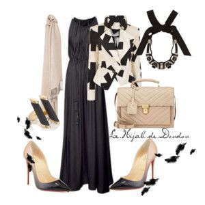 Black hijab outfit http://lehijabdedoudou.wordpress.com