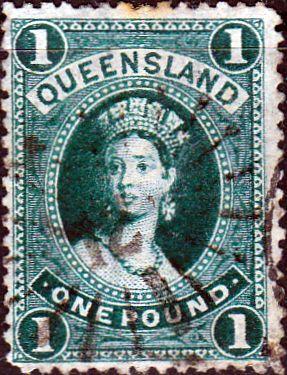 Queensland 1882 Queen Victoria SG 156 Good Used